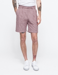 Pleated Cuff Short Pink Brown