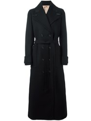 N 21 No21 Double Breasted Belted Coat Black
