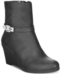 American Living Zola Wedge Booties A Macy's Exclusive Style Black