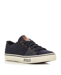 Polo Ralph Lauren Cantor Low Lace Up Tab Detail Trainers Navy