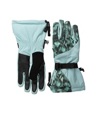 Columbia Whirlibird Iii Glove Spray Floral Print Extreme Cold Weather Gloves Blue