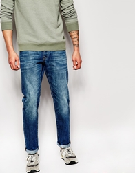 Esprit Vintage Wash Jeans In Straight Fit Midblue
