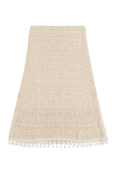 Derek Lam Cotton Midi Skirt Beige