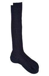 Pantherella Merino Wool Blend Over The Knee Socks Navy