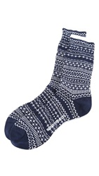 Norse Projects Bjarki Winter Socks Navy