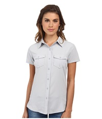 The North Face Short Sleeve Taggart Woven Shirt Heather Grey Women's Short Sleeve Button Up Gray