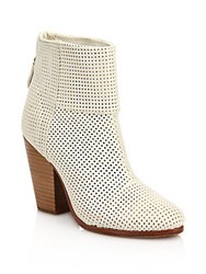 Rag And Bone Classic Newbury Perforated Leather Boots White