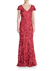 Theia Beaded Paillette Gown