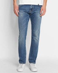 Carhartt Faded Blue Rebel Tapered Fit Stretch Slim Jeans