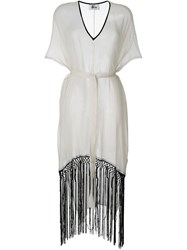 Lost And Found Ria Dunn Fringed Kaftan White