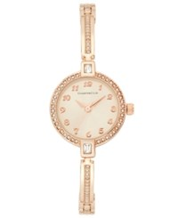 Charter Club Rose Gold Tone Crystal Bangle Bracelet Watch 22Mm Only At Macy's