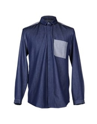 Richard Nicoll Denim Shirts Blue