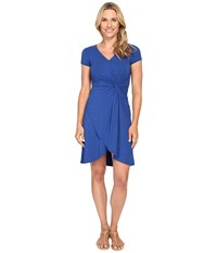 Mod O Doc Cotton Modal Spandex Faux Wrap Twist Front Dress Sailor Women's Dress Navy