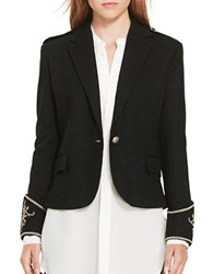 Polo Ralph Lauren Wool Peplum Blazer Polo Black