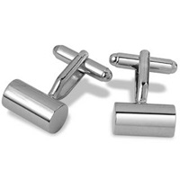 Forzieri Pitti Silver Plated Cylinder Cuff Links