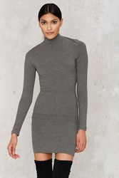 Nasty Gal After Party Vintage One Fell Scoop Ribbed Dress