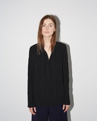 Proenza Schouler Neck Tie Satin Blouse Black