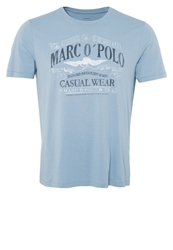 Marc O'polo Print Tshirt Faded Denim Light Blue