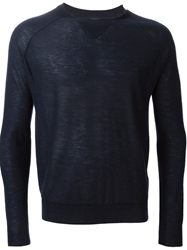 Band Of Outsiders Crew Neck Sweater Blue