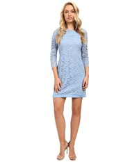 Vince Camuto Lace 3 4 Sleeve Tee Body With Combo Light Blue Women's Dress