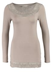 Cream Florence Long Sleeved Top Warm Taupe