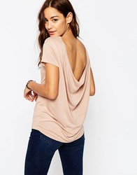 Asos T Shirt With Scoop Back Tan