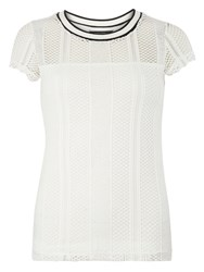 Dorothy Perkins Lace Sports T Shirt White