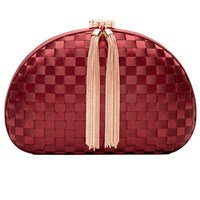 Ted Baker Lovie Hardcase Clutch Bag Oxblood