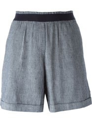 Woolrich Pinstripe Classic Shorts Blue