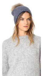 Inverni Two Tone Checker Hat Blue Grey