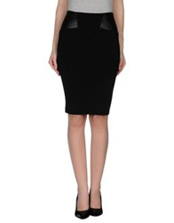 Guess By Marciano Knee Length Skirts Black