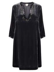 East Beaded Velvet Dress Slate