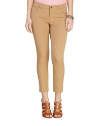 Lauren Ralph Lauren Stretch Twill Skinny Pants Cliff Tan