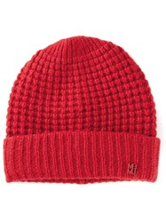 Marc By Marc Jacobs 'Walley' Beanie Hat Red