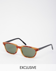 Reclaimed Vintage Wayfarer Sunglasses Brown