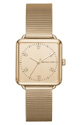 Michael Michael Kors Women's 'Brenner' Square Mesh Strap Watch 31Mm