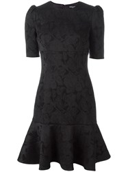 Dolce And Gabbana Tulip Embroidered Dresss Black