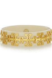 Tory Burch Gold Plated Acetate Bangle Ivory