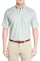 Men's Peter Millar 'Spring Windowpane Plaid' Regular Fit Sport Shirt