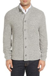 Nordstrom Men's Men's Shop Mock Neck Wool Blend Button Cardigan