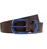 Oliver Spencer 2.5C Brown Coniston Leather Belt Dark Brown