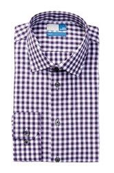 14Th And Union Spread Collar Trim Fit Dress Shirt Purple