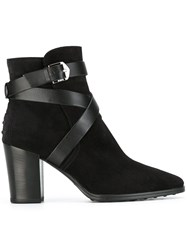 Tod's Wrap Strap Boots Black