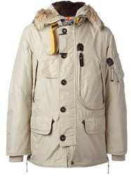 Parajumpers Hooded Padded Jacket Nude And Neutrals