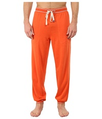 Original Penguin Cuffed French Terry Pant Red Clay Men's Pajama
