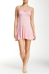Betsey Johnson Multi Strap Lace Trim Chemise Pink