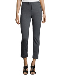 Atm Ponte Slim Cuffed Ankle Pants