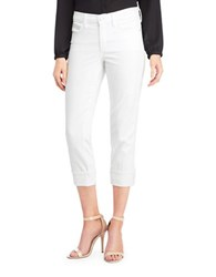 Nydj Cropped Cotton Blend Pants Optic White