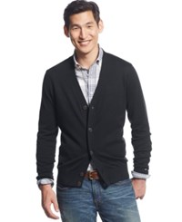 Tommy Hilfiger Signature Solid Cardigan Charcoal Grey Heather