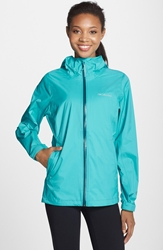 Columbia 'Evapouration' Modern Classic Fit Packable Waterproof Rain Jacket Geyser